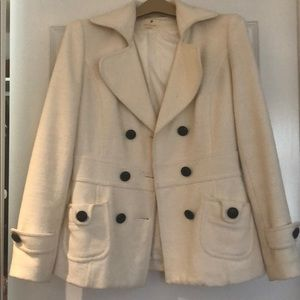 White Forever 21 pea coat